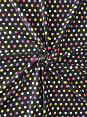 BLACK/MULTI POLKA
