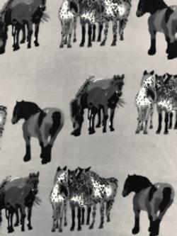 HORSES GREY/BLACK