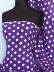 PURPLE/WHITE POLKA