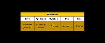 Adult Park Schedule