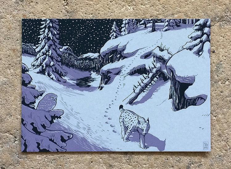 Winterkarte «Luchs»