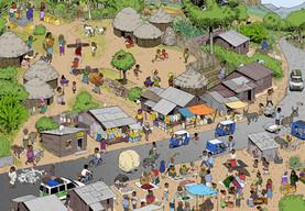 Wimmelbild Ethiopia