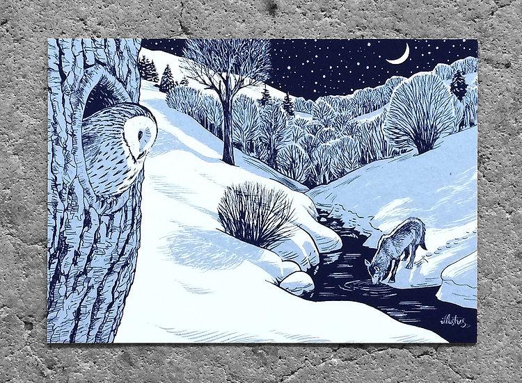 Winterkarte «Wolf»