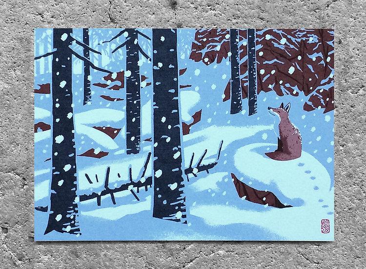Winterkarte «Fuchs»