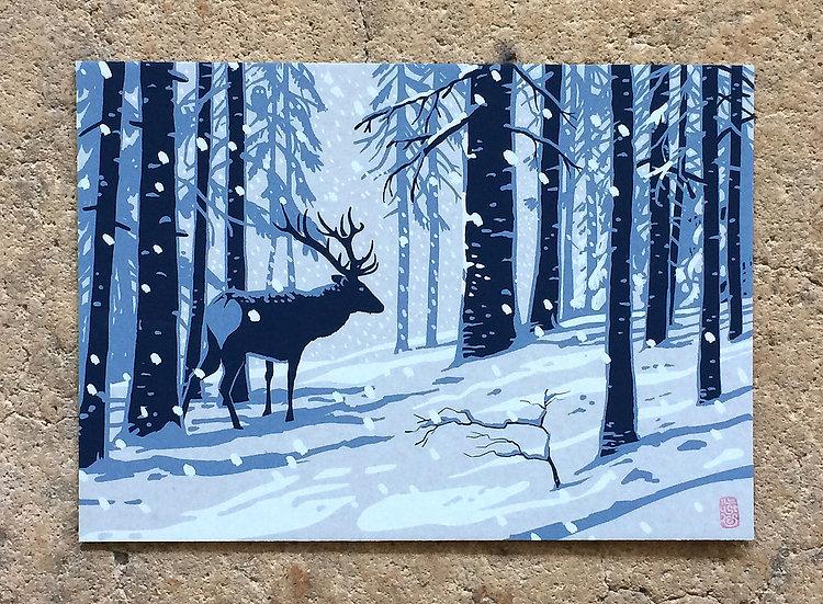 Winterkarte «Hirsch»