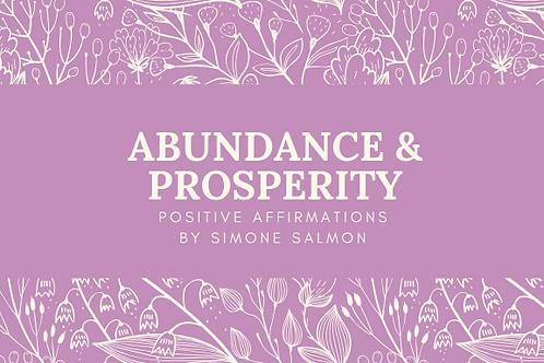 Abundance and Prosperity Positive Affirmations by Simone Salmon