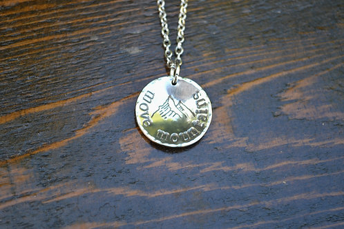 Move Mountains Necklace 3/4 inch