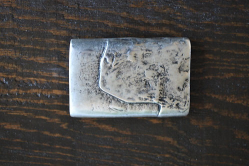"Silver Nugget Buckle (3"" x 2"")"