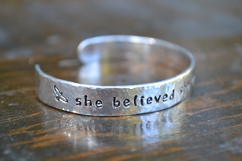She Believed She Could, So She Did Cuff