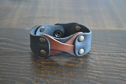 X Marks the Spot Leather Cuff