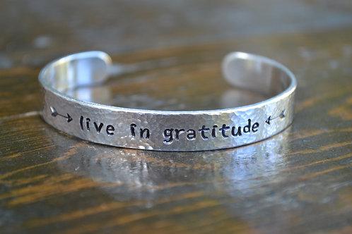 Live in Gratitude Cuff