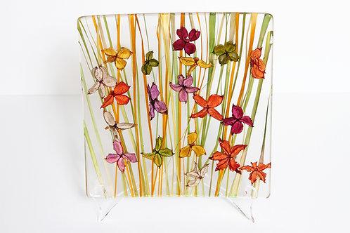 Italian Floral Plexiglass Dinner Plate