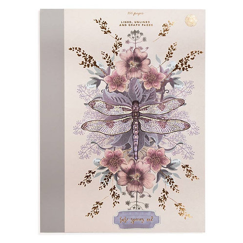 Clothbound Notebook - Dragonfly