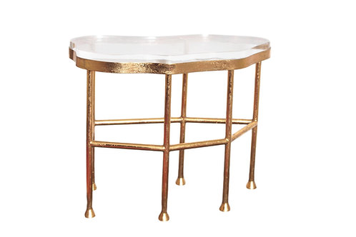 Cristal Gold Side Table