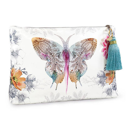 Large Tassel Pouch - Paisley Butterfly