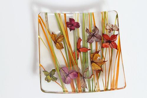 Italian Plexiglass Floral Salad Plate