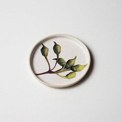 Green Eucalyptus Buds Side Plate