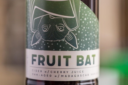 Cavernous Cider // Fruit Bat Label