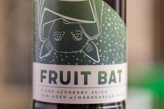 Cavernous Cider // Fruit Bat Label