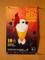 Illinois Craft Beer Week // Poster