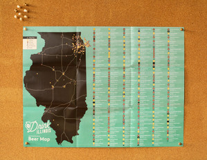 Drink Illinois // Annual Beer Map