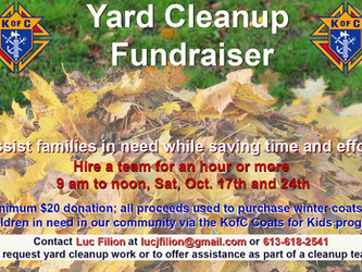Yard Clean Up Fundraiser - Knights of Columbus