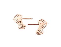 'Petals' Rose Gold Earrings - £80