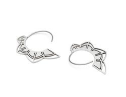 'Petals' Silver Ring Earrings - £70