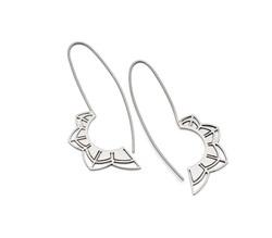 'Petals' Silver Long Earrings - £70