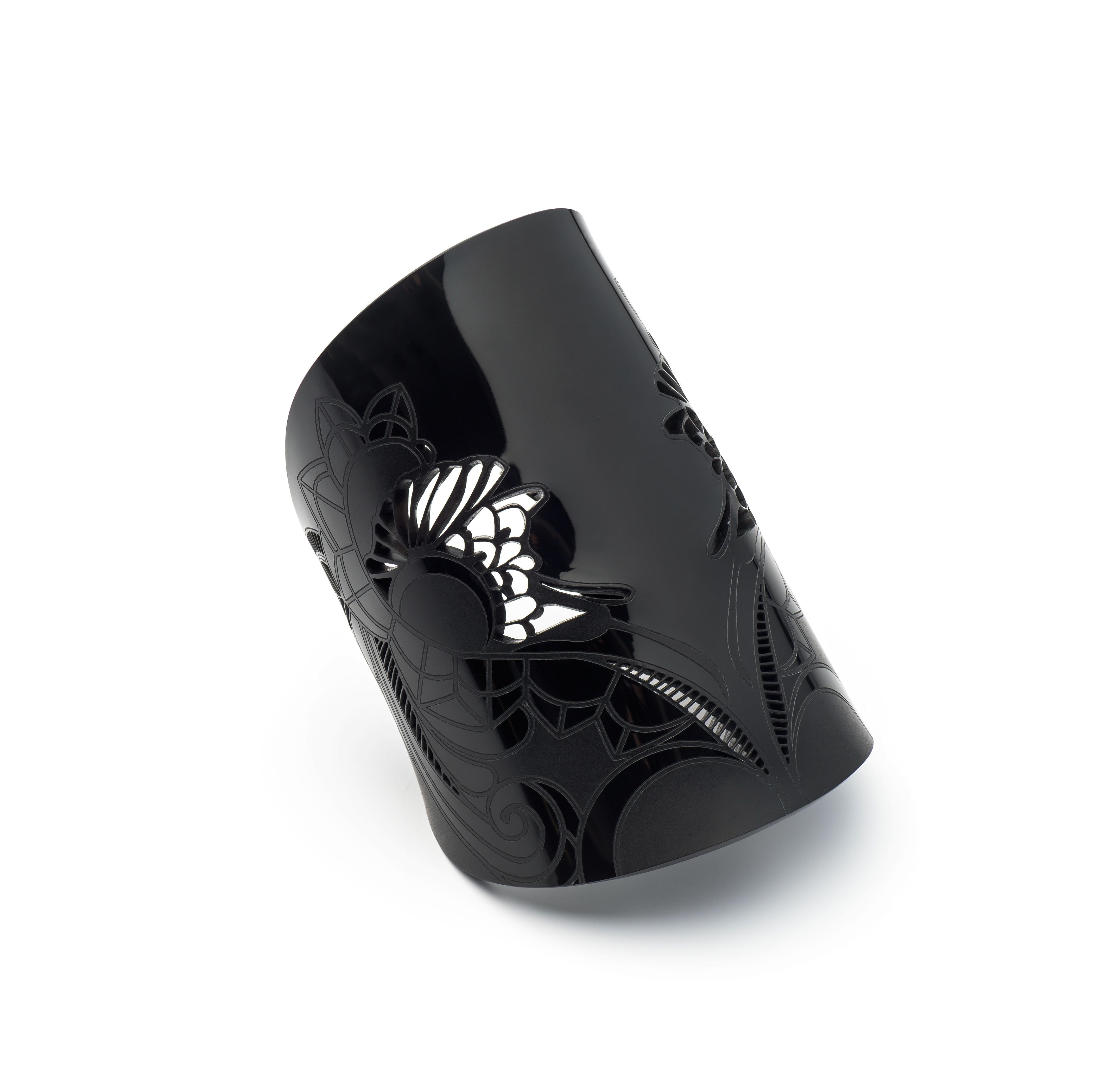 'Irezumi Black' Wrist Cuff - £125