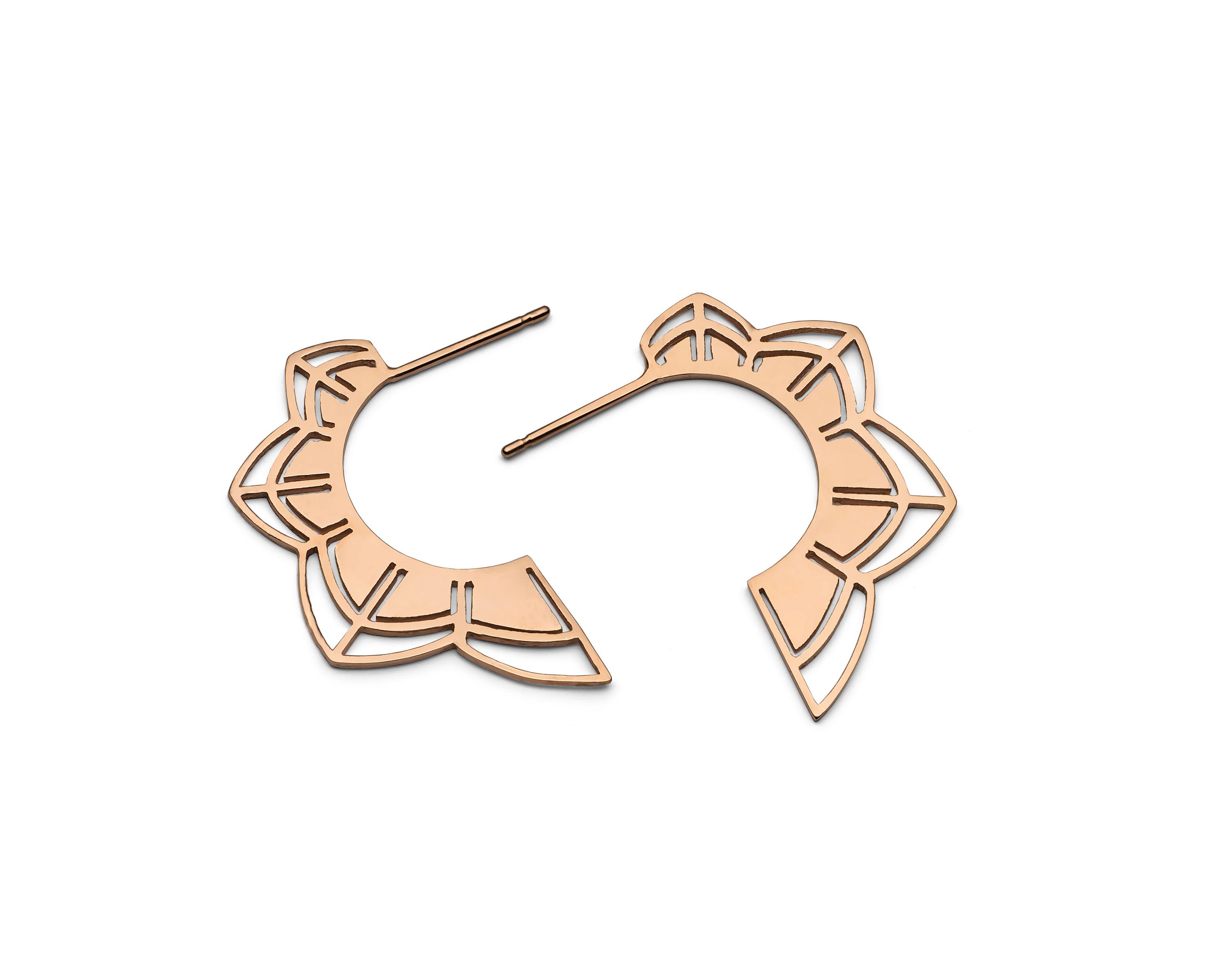 'Petals' Rose Gold Earrings - £110