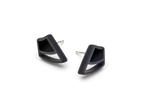 Irezumi Black Single Bud Earrings