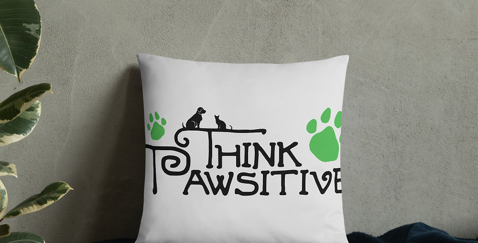 Think Pawsitive Basic Pillow