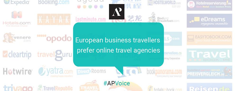 European business travellers prefer online travel agencies - Amistad Partners - AP Voice