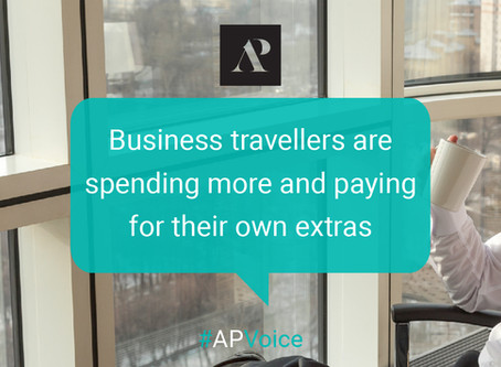 Business travellers are spending more and paying for their own extras