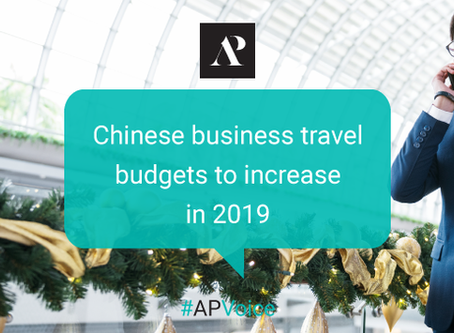 Chinese business travel budgets to increase in 2019