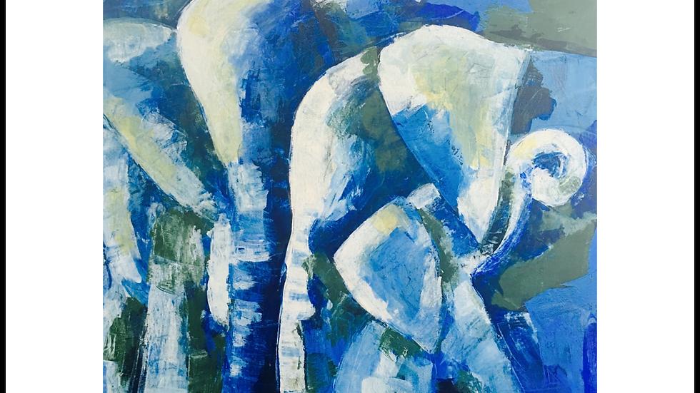 "FINE ART PRINT ""Elephant Love"" (2017)"