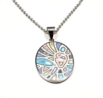Enamel Mosaic Necklace