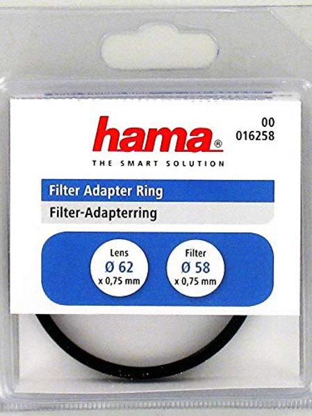 Hama - Anillo Adaptador de Objetivo 62 mm a Filtro 58 mm