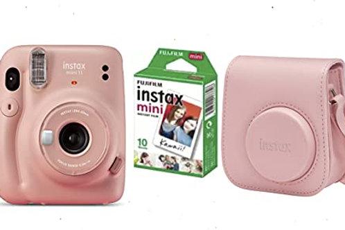 Camara Mini INSTAX 11BLUSH-Pink + Funda + Carga 10 Fotos+ 25€ de Regalo para Dis