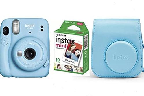 Camara Mini INSTAX 11 XKY-Blue+ Funda + Carga 10 Fotos+ 25€ de Regalo para Disf