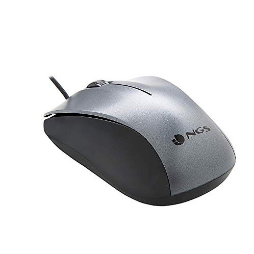 RATON OPTICO NGS WIRED CREW GRIS