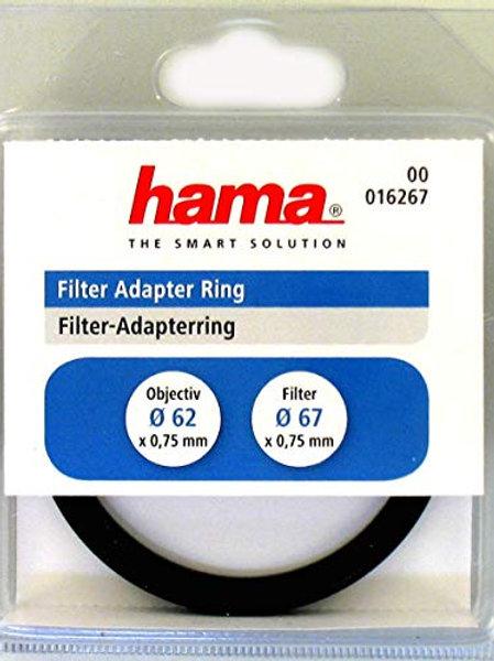Hama - Anillo Adaptador de Objetivo 62 mm a Filtro 67 mm