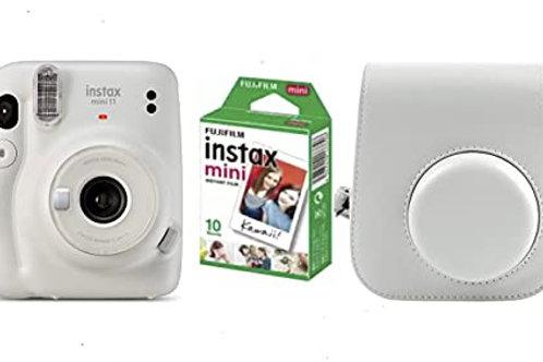 Camara Mini INSTAX 11 Ice-White+ Funda + Carga 10 Fotos+ 25€ de Regalo para Disf