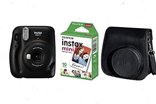 Camara Mini INSTAX 11 Charcoal-Gray + Funda + Carga 10 Fotos+ 25€ de Regalo para