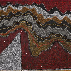Ngapa Jukurrpa (Water Dreaming) - Pirlinyarnu by Julie Nangala Robertson