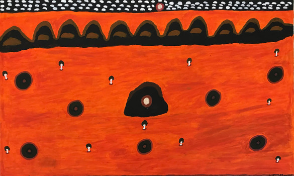 Brurngkurna- Calvert Hill (Sun Dreaming) by Stewart Hoosan