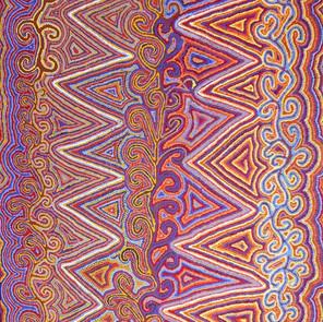 Janganpa Jukurrpa (Brush-tail Possum Dreaming) - Mawurrji by Phyllis Napurrurla Williams
