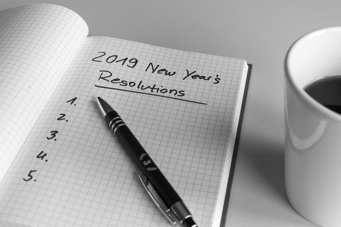 """Je vous souhaite de joyeuses et """"bonnes résolutions"""" 2019"""