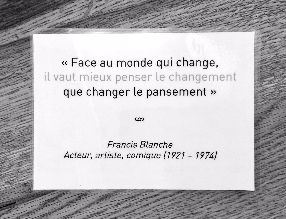 Changement Permanent Anticiper Francis Blanche